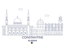 Constantine City Skyline, Algérie Photographie stock