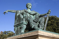 Constantine den stora statyn i York Arkivbild