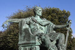 Constantine den stora statyn i York Royaltyfria Foton