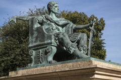 Constantine den stora statyn i York Royaltyfria Bilder