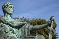 Constantine den stora statyn i York Royaltyfri Bild