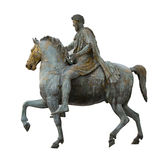 Constantine emperor isolated. On white riding a horse Royalty Free Stock Photography