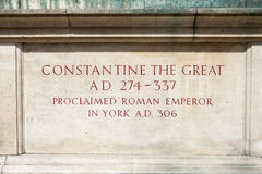 Constantine the Great Statue in York Stock Photos