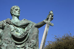 Constantine the Great Statue in York Royalty Free Stock Image