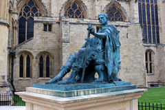 Constantine the Great, York, England. Statue of the Roman Emperor Constantine the Great in York, England Stock Image