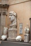 Constantine Groot Roman Emperor Stock Afbeelding