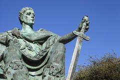 Constantine het Grote Standbeeld in York Stock Afbeelding
