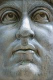 Constantine I statue, Rome, Italy. Close-up of colossal head of Constantine I statue at the Capitoline Museum, Rome, Italy Royalty Free Stock Image