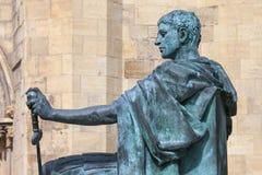 Constantine Statue i York Arkivfoto
