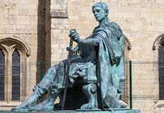 Constantine Statue i York Royaltyfri Fotografi