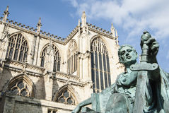 Constantine statue. View of the statue Constantine outside York Minster, England Stock Images