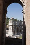 Constantino's arch. Rome arch of the Roman emperor Constantino Royalty Free Stock Image