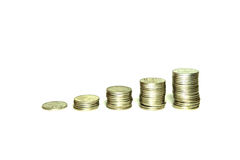 Constantly increase your income. Constantly increase coin in each of them stock images