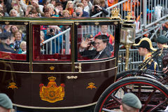 Constatijn van Oranje. THE HAGUE, HOLLAND - SEPT 17: The carriage with Prince Constatijn van Oranje on Prinsjesdag (opening of parliamentary year by Queen) on Royalty Free Stock Image