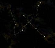 A constelação é cisne Foto de Stock Royalty Free