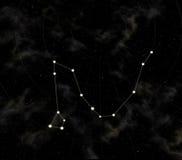 A constelação é dragão ilustração royalty free