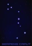 Constelação da cabeça de Serpens Foto de Stock