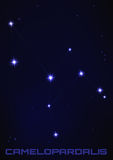 Constelação da estrela de Camelopardalis Fotos de Stock Royalty Free