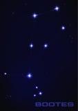Constelação da estrela do Bootes Fotografia de Stock Royalty Free