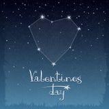 Constelação de amor ilustração royalty free