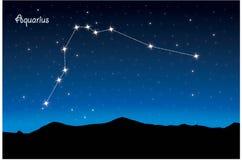 Constelação de Aquário ilustração stock