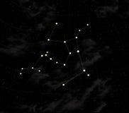 A constelação de Aveia-lasc ilustração stock
