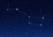Constelação de Big Bear no céu estrelado da noite ilustração do vetor