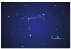 Constelação de coma Berenices ilustração royalty free