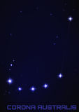 Constelação de Corona Australis Imagens de Stock Royalty Free