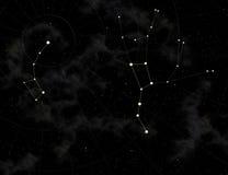 Constelação de Dipper grande e pequeno ilustração royalty free