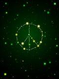 Constelação de paz ilustração stock
