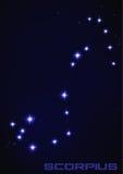 Constelação de Scorpius ilustração do vetor
