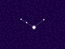 Constelação de Venatici dos bastões C?u nocturno estrelado Objetos do espaço, galáxia Vetor ilustração royalty free