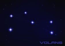 Constelação de Volans ilustração stock