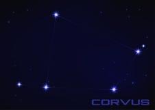 Constelação do Corvus Fotografia de Stock Royalty Free