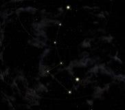 Constelação do dipper pequeno ilustração stock