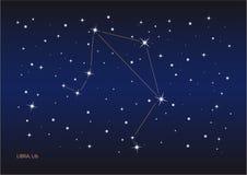 Constelação do Libra ilustração do vetor