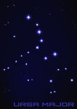 Constelação do major de Ursa Foto de Stock Royalty Free