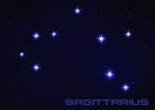 Constelação do Sagitário Imagens de Stock Royalty Free