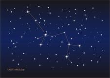 Constelação do Sagittarius ilustração do vetor