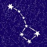 Constelação do urso de Rgeat no céu ilustração do vetor