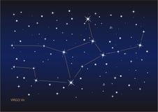 Constelação do Virgo ilustração stock