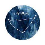 A constelação do zodíaco do Capricórnio ilustração do vetor