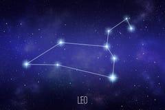 Constelação do zodíaco do Leão Ilustração da astronomia ou da astrologia ilustração do vetor