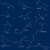 constelação dos sinais do zodíaco ilustração royalty free