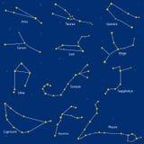 constelação dos sinais do zodíaco, ilustração Foto de Stock Royalty Free