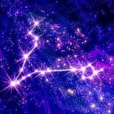 Constelação Pisces ilustração royalty free