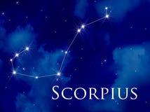 Constelação Scorpius ilustração stock