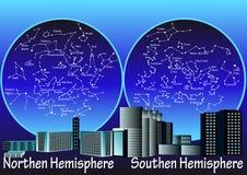 Constelações de hemisfério ilustração royalty free