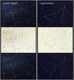 Constelações do major e do Capricornus de Canis ilustração stock